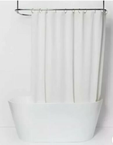 Made By Design shower curtain Fabric Shower Liner White