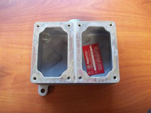 Appleton EFD275-NL-Q Unilet Pilotlight Duplex 2gang Explosion Proof Box