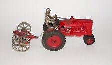 Original Arcade Cast Iron Farmall Tractor w/ Hay Rake Attachment (DAKOTApaul)