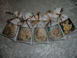 5 Lavendelsäckchen *Amalie* Lavendelkissen Schrankduft Deko Wäscheduft