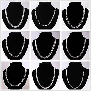 Wholesale-Solid-Silver-Chain-Ladies-Mens-925Silver-Necklace-Fit-Pendant-Charm