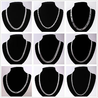 Wholesale Solid925 Silver Chains Ladies/Mens Silver Necklace Fit Pendant/Charms