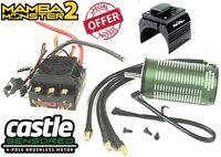 Castle Creations 1/8 Mamba Monster 2 Wp Esc 2200kv Motor W Aluminum Black Fan on sale