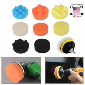 Car Buffing Pads Polishing Buffer For Drill Sponge Kit Set Waxing Sealing Glaze