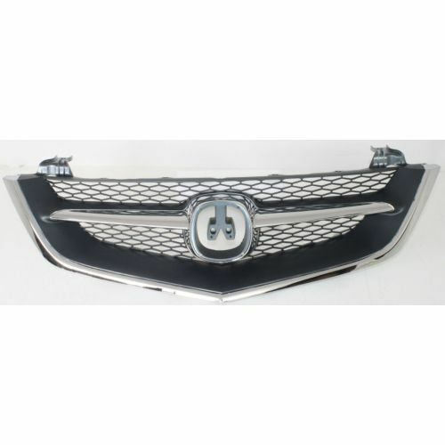 For Acura TL 02-03, Grille, Chrome Shell W/ Black Insert