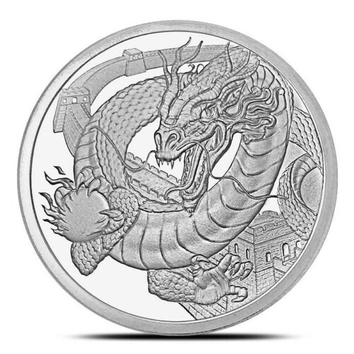 World Of Dragons Series The Chinese Dragon 1 oz .999 Silver USA Made BU Round