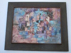 JEAN-LEE-PAINTING-SIGNED-MODERNIST-ABSTRACT-EXPRESSIONISM-NON-OBJECTIVE-COLORS