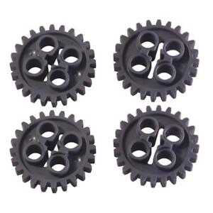 WITH ROUND HOLES PART 4019 LEGO LIGHT BLUISH GREY 16 TOOTH GEAR OLD STYLE