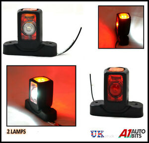 2X-24V-SIDE-REAR-LED-MARKER-LIGHTS-LAMPS-CHASSIS-FOR-TRUCK-SCANIA-IVECO-DAF-MAN