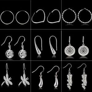 Women-Fashion-Sliver-Geometric-Drop-Dangle-Stud-Big-Earrings-Jewelry-Party-Gift