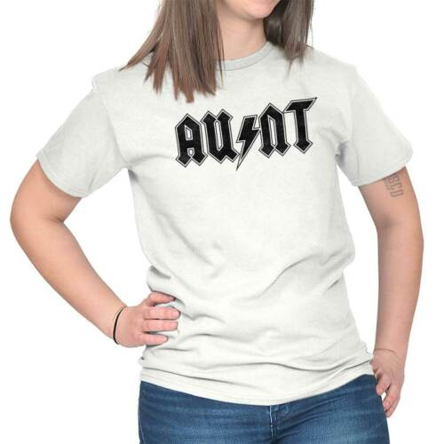 Aunt Metal Rock and Roll Cool Birthday Best Ever Sister T Shirt Tee for Women