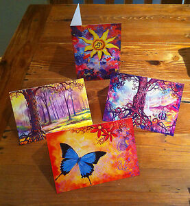 Hand-Picked-Imports-Art-Cards-Set-of-4-Prints-from-Dubbo-artist-Sue-Hend