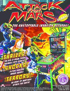 Attack From Mars Pinball New Genuine Flyer : MR PINBALL