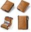 Men-Genuine-Leather-Cowhide-Wallet-Bifold-RFID-Credit-Card-Holder-Zipper-Purse thumbnail 8