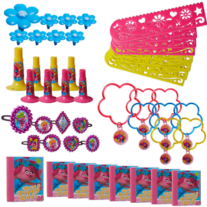 Image Is Loading DISNEY TROLLS FAVOR PACK 48pc Birthday Party Supplies