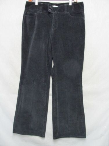 D7768 Dockers Black Corduroy Stretch Boot Cut Pant