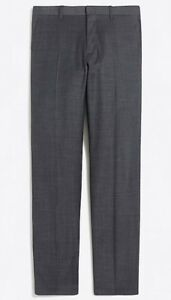 """Details about NWT JCREW Factory Slim Thompson suit pant worsted wool Sz3532 Gray G1747 SP""""18"""