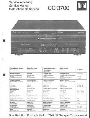 Dual Original Service Manual Für Cc 3700