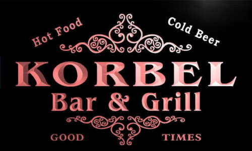 u24149-r KORBEL Family Name Bar /& Grill Home Beer Food Neon Sign