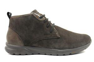 Dettagli su GEOX RESPIRA DAMIAN U940HC scarpe uomo sneakers polacchine pelle camoscio casual