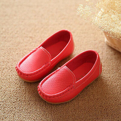 Kids Baby Toddler Girl Boy Fashion Loafers Soft Leather Flat Slip-on Crib Shoes