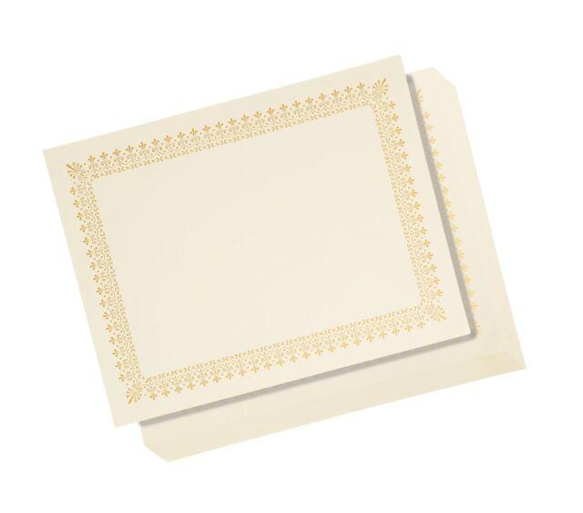 48 sheet certificate paper letter size blank diploma gold foil
