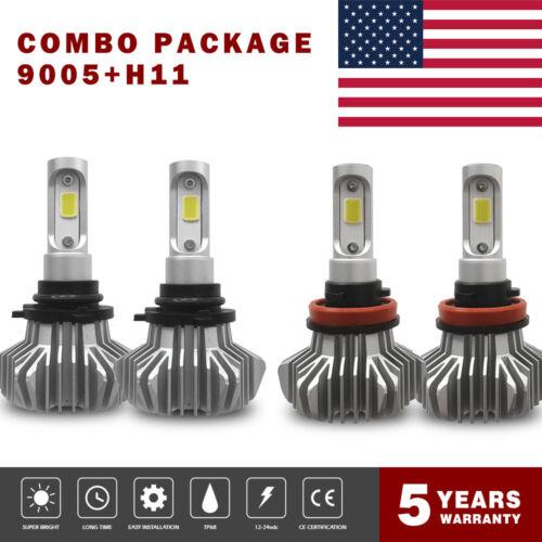 9005//HB3+H11//H9//H8//H16JP Fanless Combo 400W 40000LM LED Headlight Bulb 6500K 8US