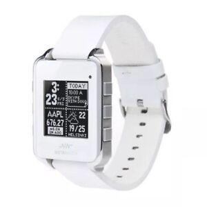 Nouveau-Meta-Watch-MW3001-Fitness-Moniteur-Cadre-Blanc-Bluetooth-Smartwatch