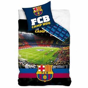FC-Barcelone-Camp-Nou-Set-Housse-de-Couette-Simple-Europeen-Taille-100-Coton