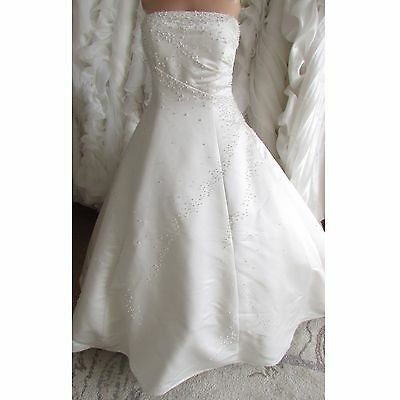 Ivory wedding dress with beads/pearls UK size 14/16