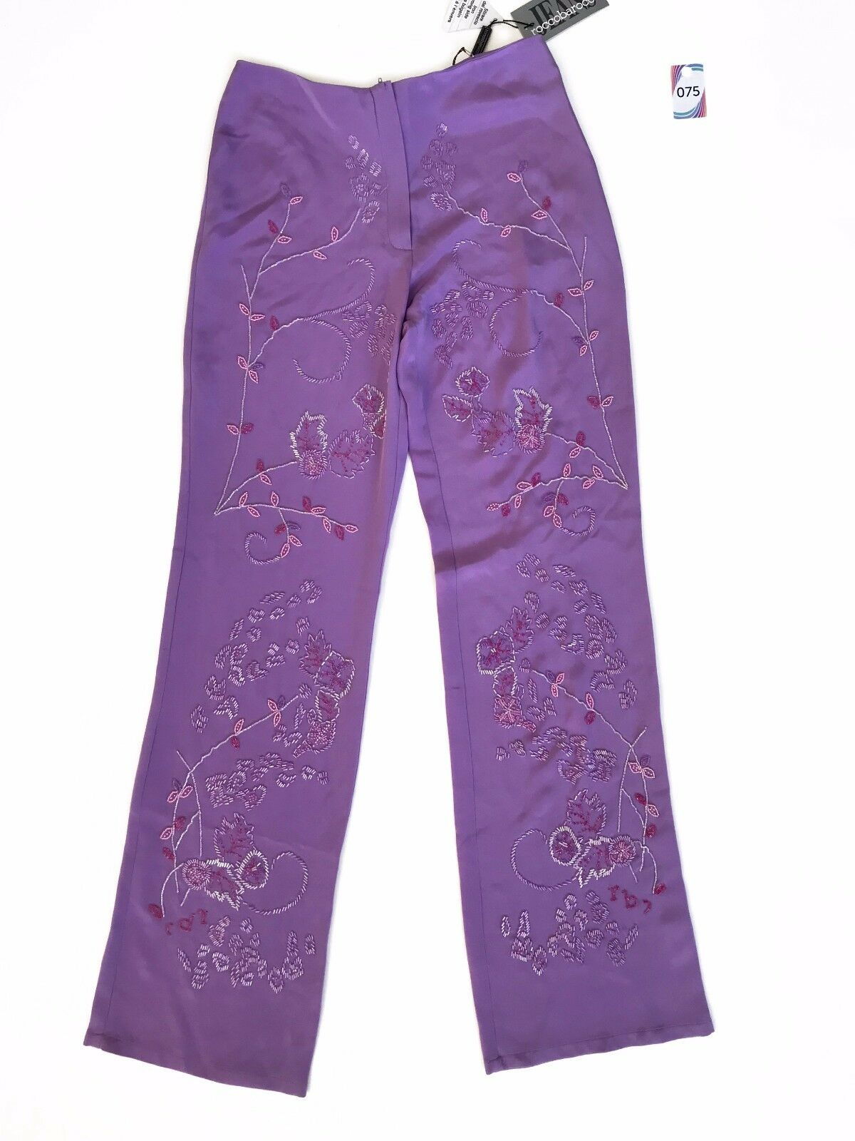ROCCOBAROCCO JEANS  WOMEN'S PURPLE PANTS SIZE 28 42 WITH TAGS MADE IN ITALY 75
