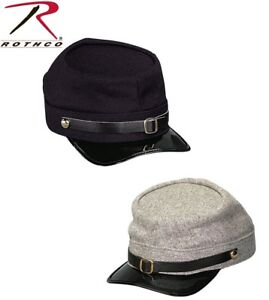 b4be83e0db5 Civil War Wool Kepi In Confederate Grey or Union Navy Blue Rothco ...