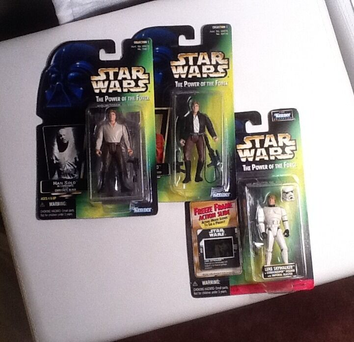 Star wars POTF figures Han Solo Bespin, Carbonite Luke Skywalker Stormtrooper