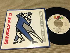 """SIMPLY RED SPANISH 7"""" SINGLE SPAIN PROMO WEA 87 - THE RIGHT THING"""