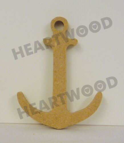 75mm x 6mm thick //WOODEN BLANK CRAFT SHAPES//NAUTICAL ANCHOR SHAPE IN MDF