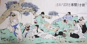 RARE-EXCELLENT-LARGE-Chinese-100-Handed-Painting-By-Fan-Zeng-HG25818