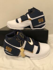 87e7270aab5 Nike LeBron Zoom Soldier 1 25 Straight AO2088-400 Midnight Navy Size ...