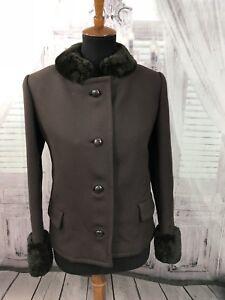 Brown Fur Blazer Sz Faux Vtg Tungt Kvinders Simmonds Large Jakke Made Jakke Union H6xSqS1