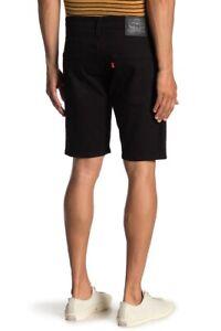 Levi-039-s-502-Men-039-s-Regular-Taper-Hemmed-Shorts-Black-327920035