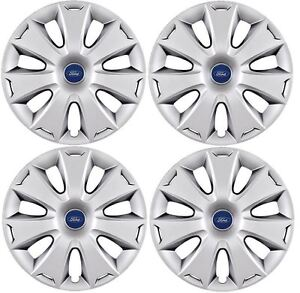 """4 x Nuevo Ford Mondeo//Focus Rueda Adornos 16/"""" Rueda Tapacubos-con logotipo"""