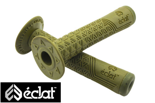 ECLAT CHESTER BLACKSMITH HANDLEBAR GRIPS KRATON RUBBER+CORKX END PLUGS  OLIVE