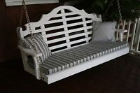 5 Foot Outdoor Bench, Swing And Glider Cushion Sundown Material Multiple Color