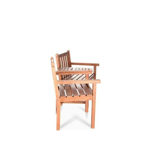 FSC BillyOh Windsor Hardwood Acacia Companion Love Seat 2 Seater Wooden Bench