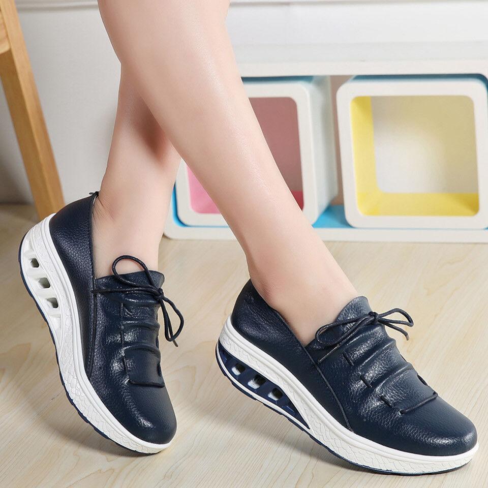 Zapatos de Mujer Shoes Fashion Women's Outsole platform Ladies Leather Shoes