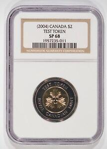 (2004) Canada $2 Toonie Test Token NGC SP68 1957235-011