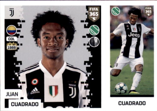 Panini FIFA365 2019 Sticker 234 a//b Juan Cuadrado Juventus Turin