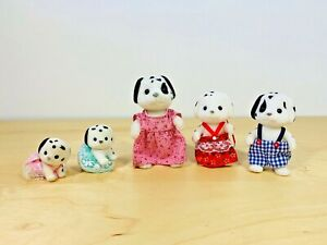 Sylvanian-Families-Dorothy-Clara-Rufus-Dash-Dot-Pongo-Perdita-Kennelworth-2002