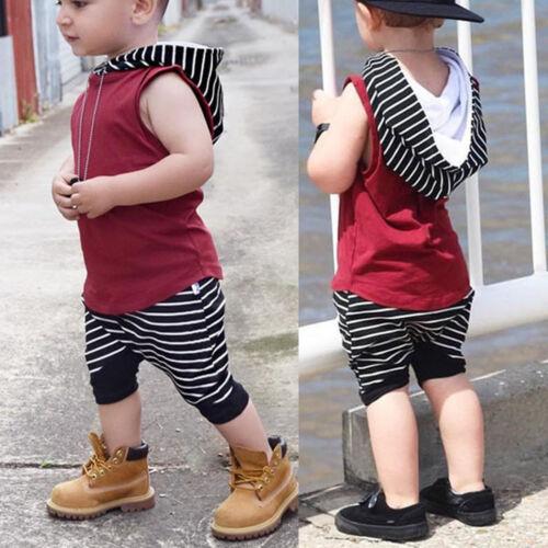 2tlg Baby Kinder Jungen Kleidung T-shirt Tops Hosen Freizeit Sommer Outfits Set