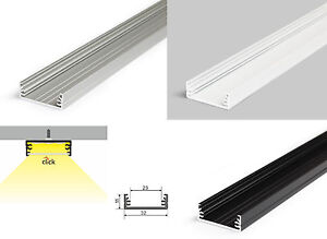 aluminiumprofil f r led band leiste schiene alu profil. Black Bedroom Furniture Sets. Home Design Ideas