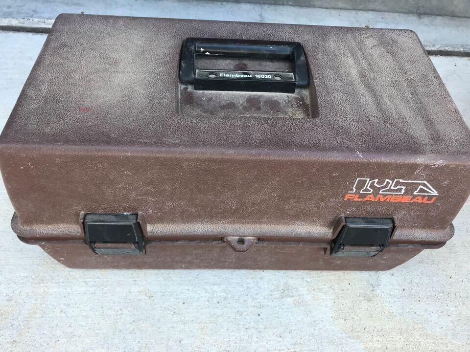 Vintage 1980s Flambeau Retro Art Supplies or Tool Utility box